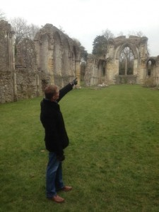 At Netley Abbey, Hampshire (Austen visited here)