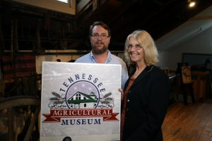 Greg Phillipy, Museum Director, with Jane